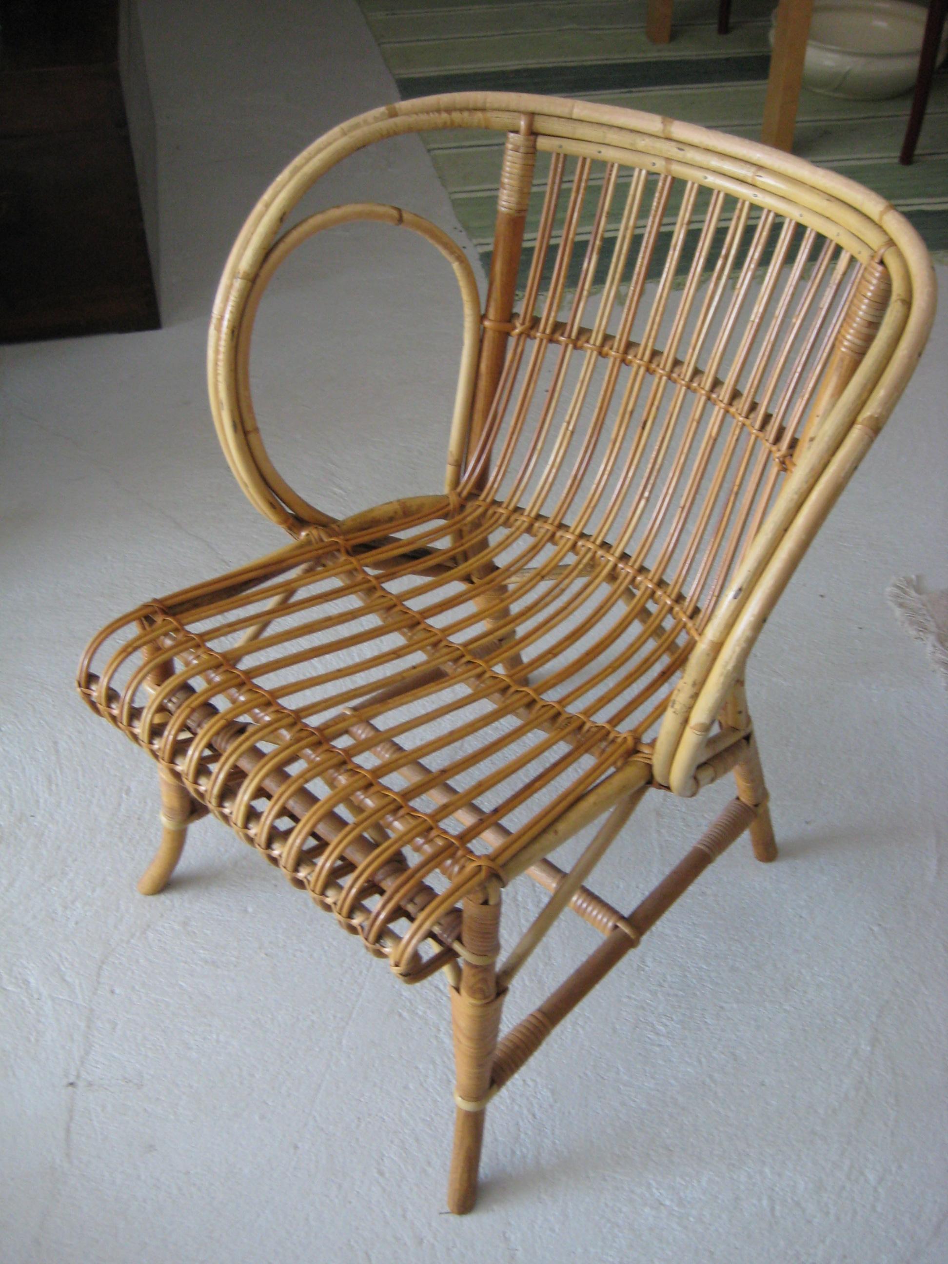 kurvemøbler kurvemøbler i Rattan flet, 4 stole samt glasbord fra Wengler   Nyt  kurvemøbler