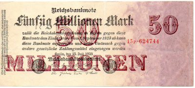 50 millioner mark 1.09.1923