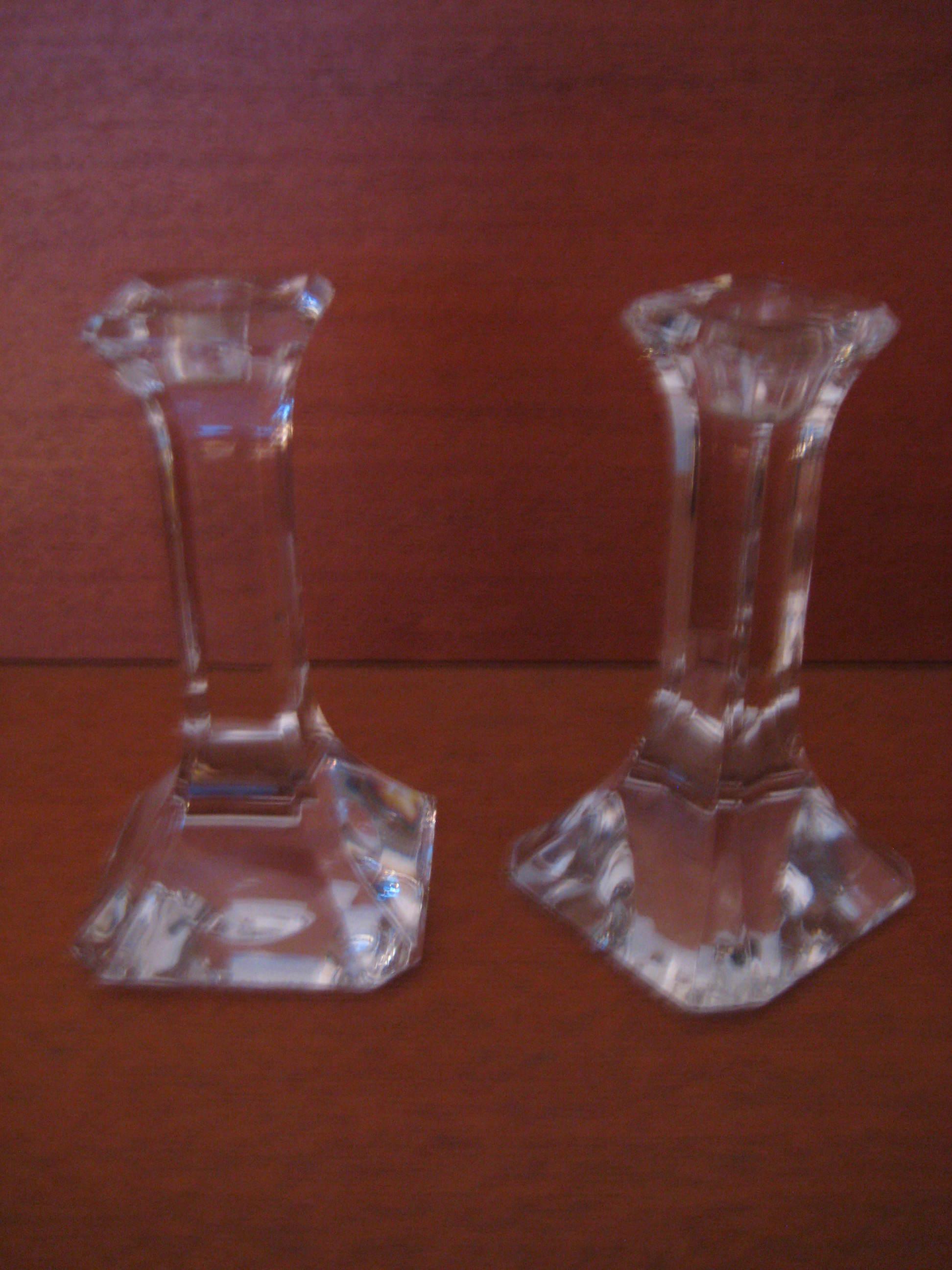 Quartett glas lysestager