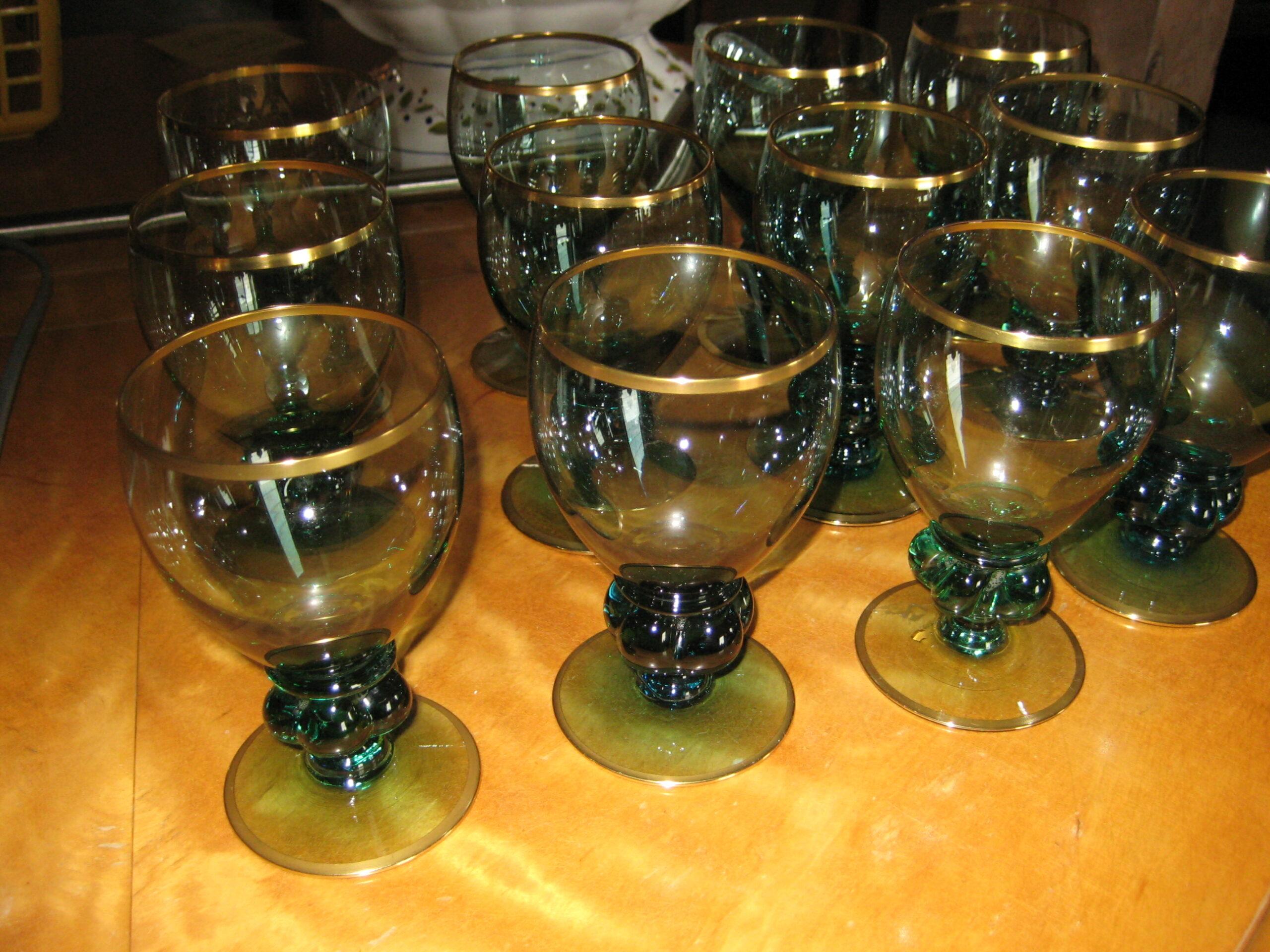 Gisselfeld grønne hvidvinsglas