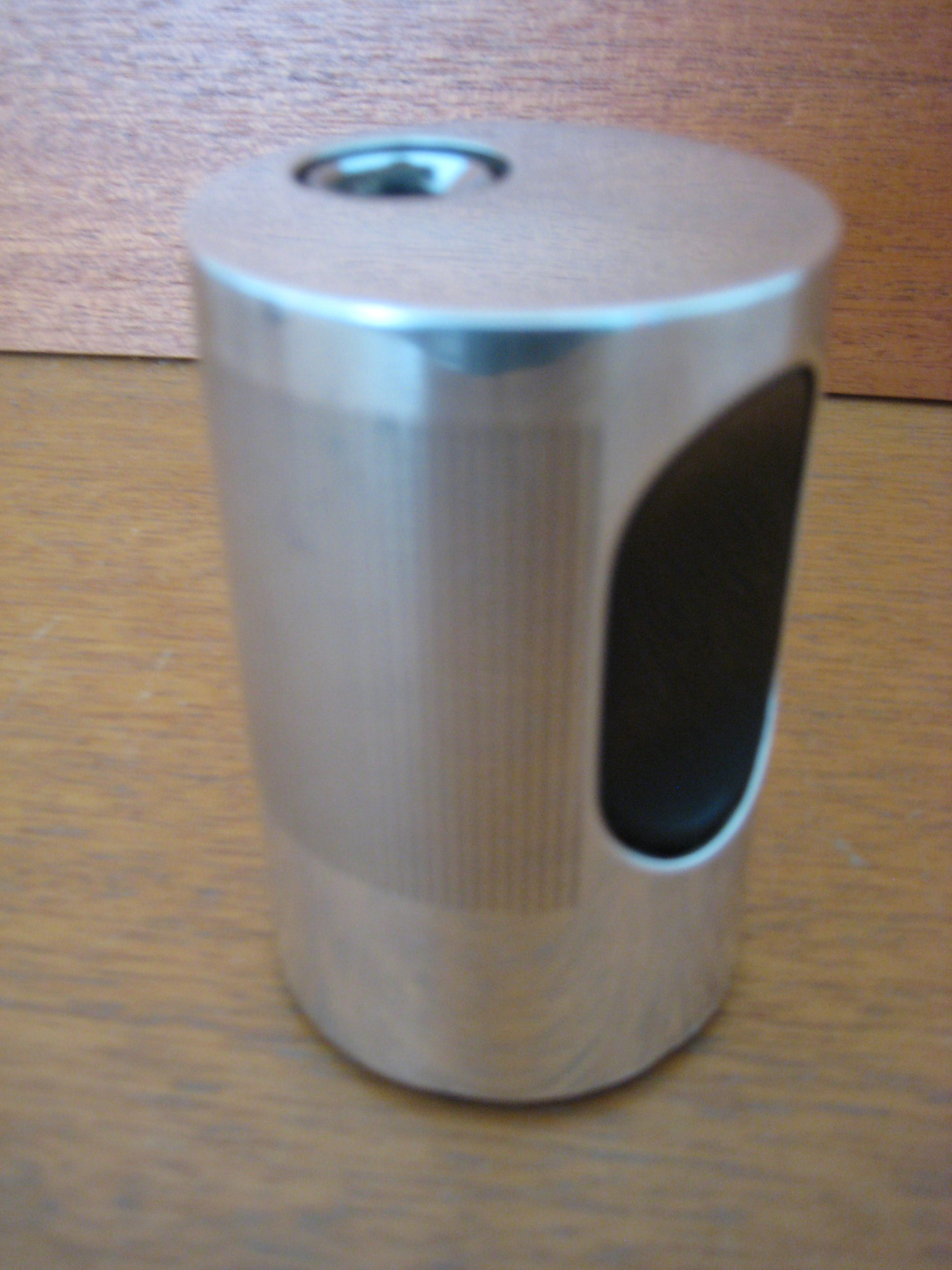 Braun Cylindric lighter, sølv