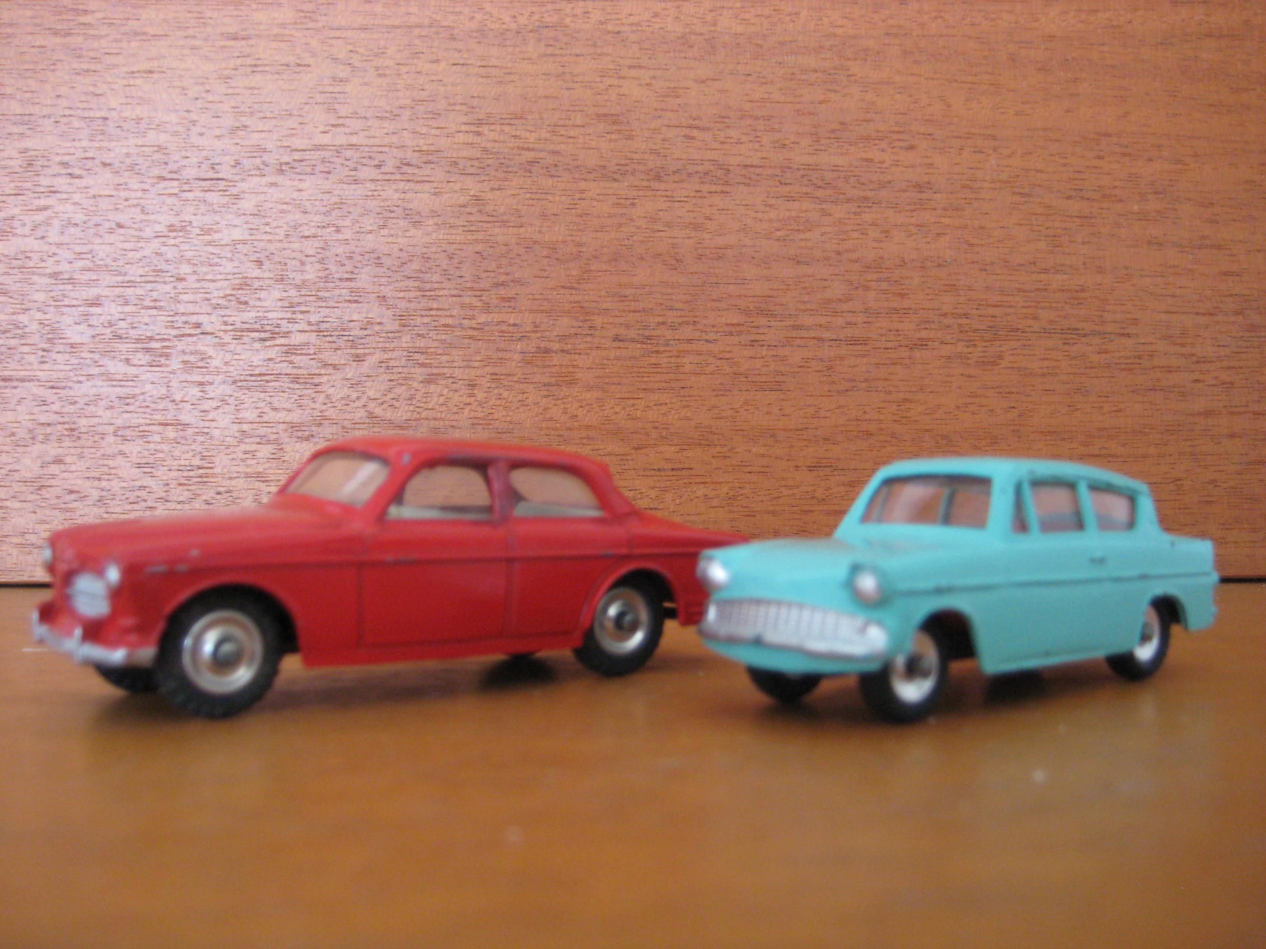 Dinkey Toys Volvo & Anglia