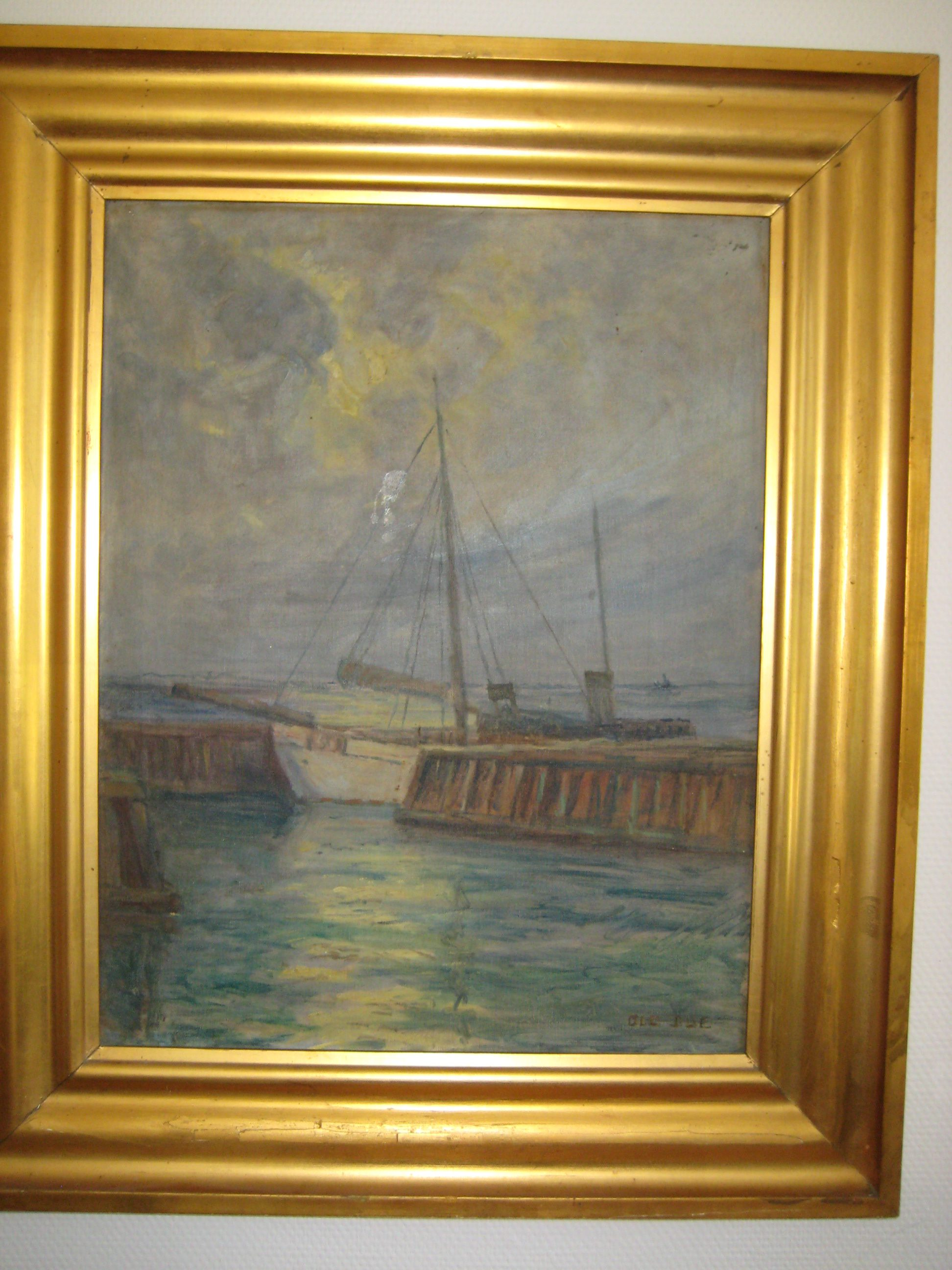 Ole Due, fiskerbåd i havn