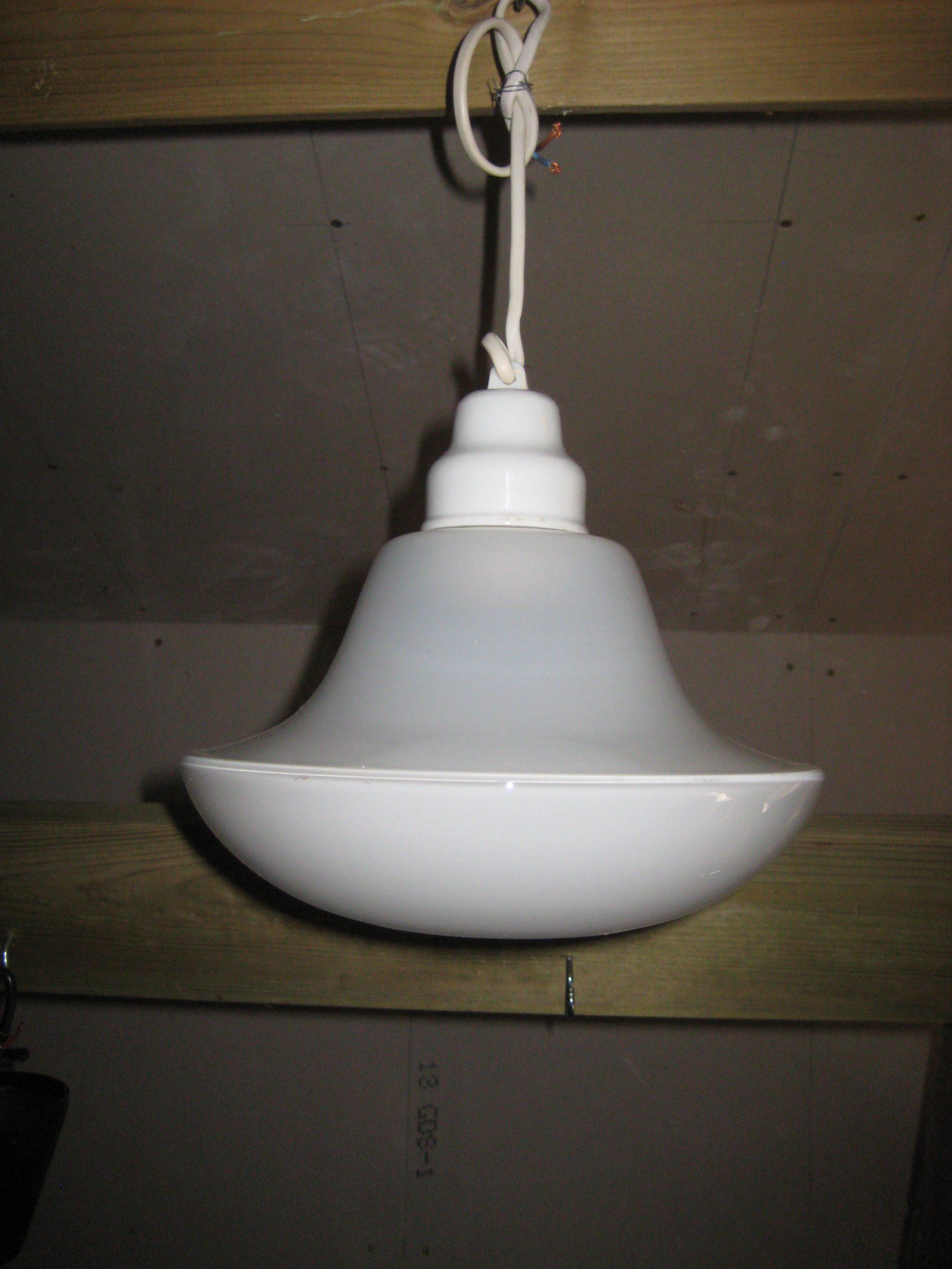 Hvid glaspendel