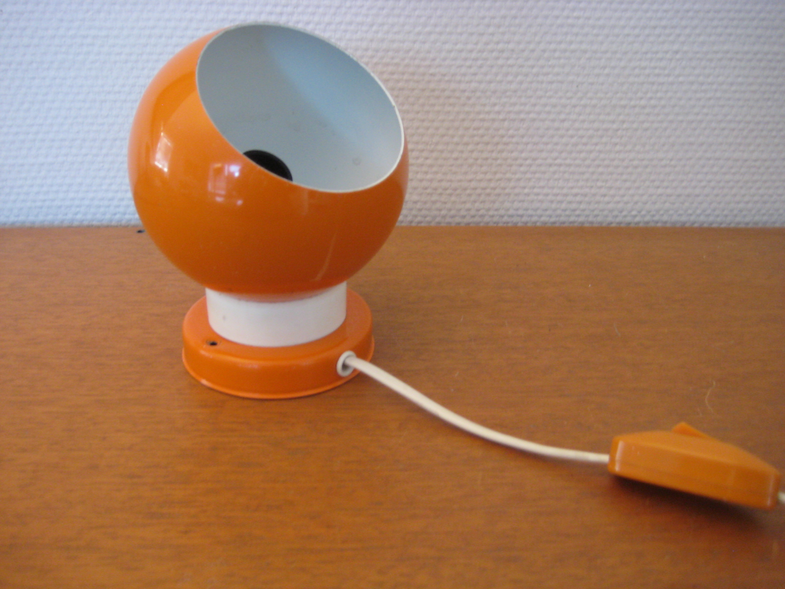 Kuglelampe med magnet, orange