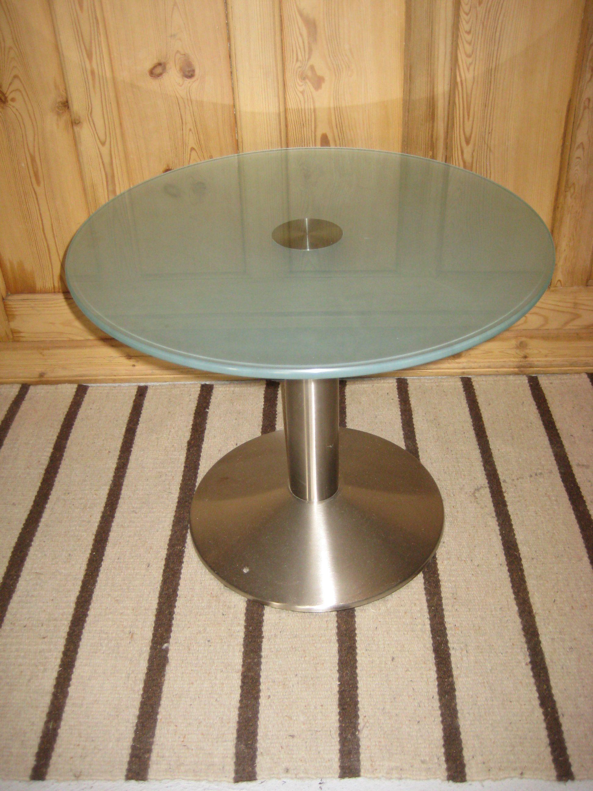 Rundt glasbord Ø 60cm