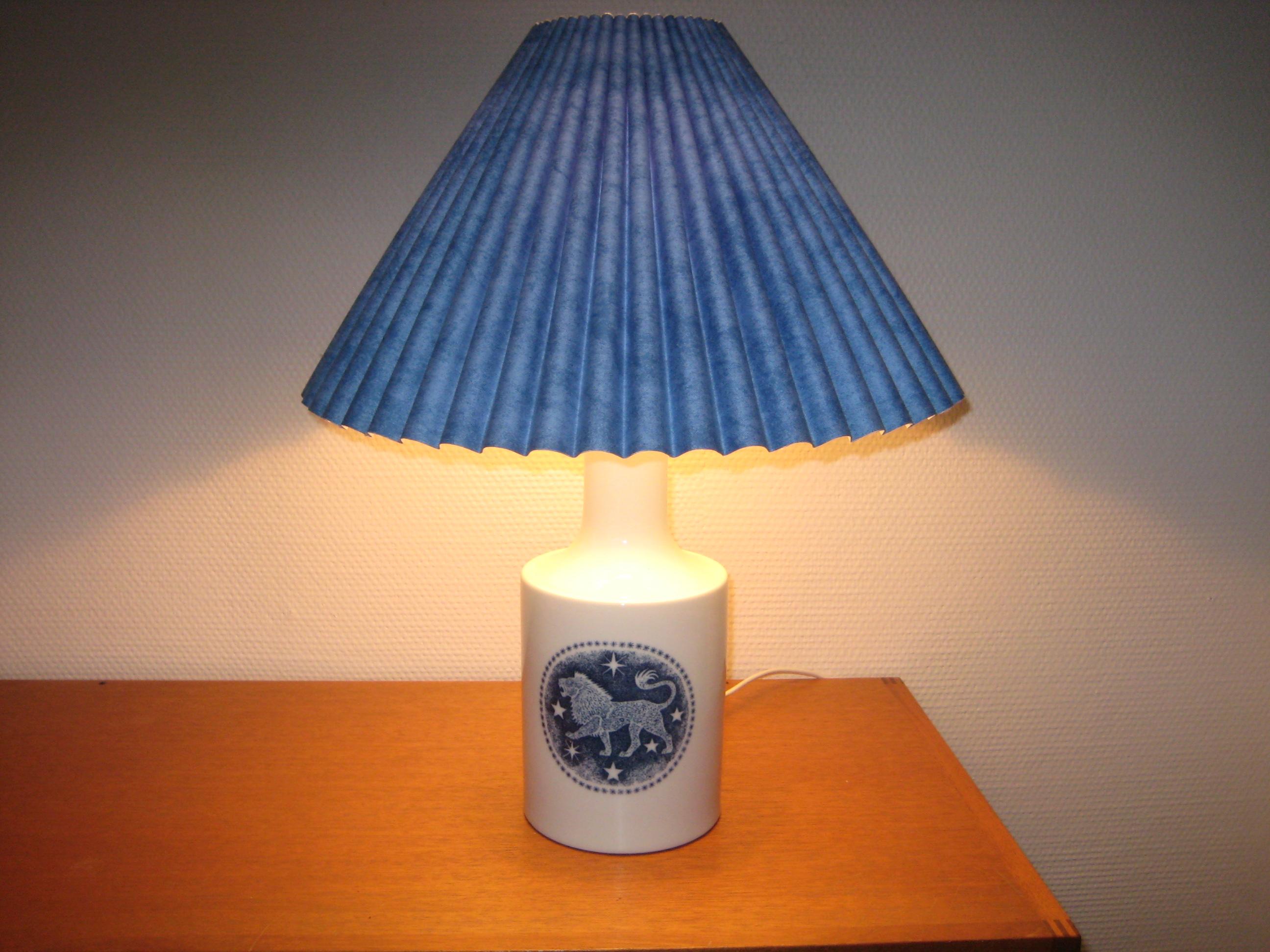 Royal Copenhagen stjernetegn bordlampe