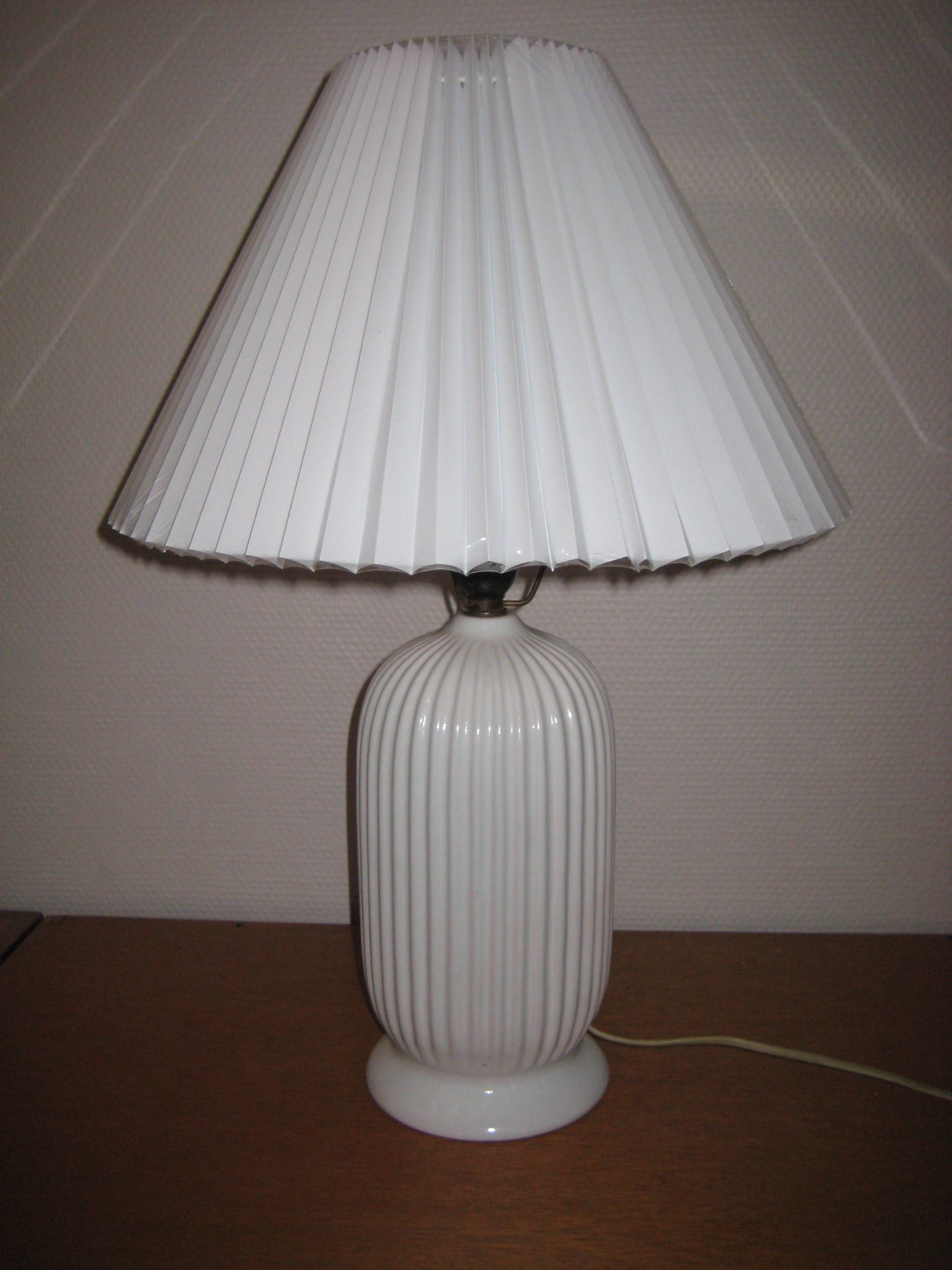 Michael Andersen bordlampe, hvid