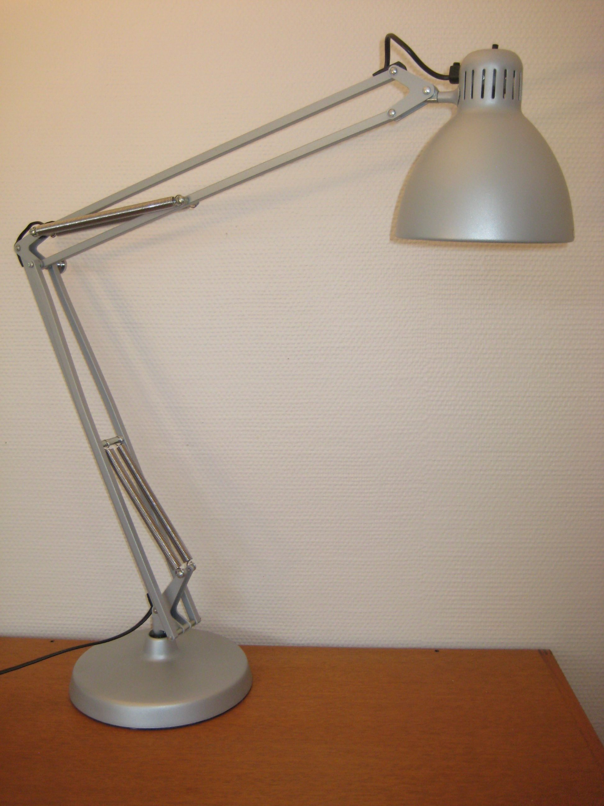 Luxo arkitektlampe, silver