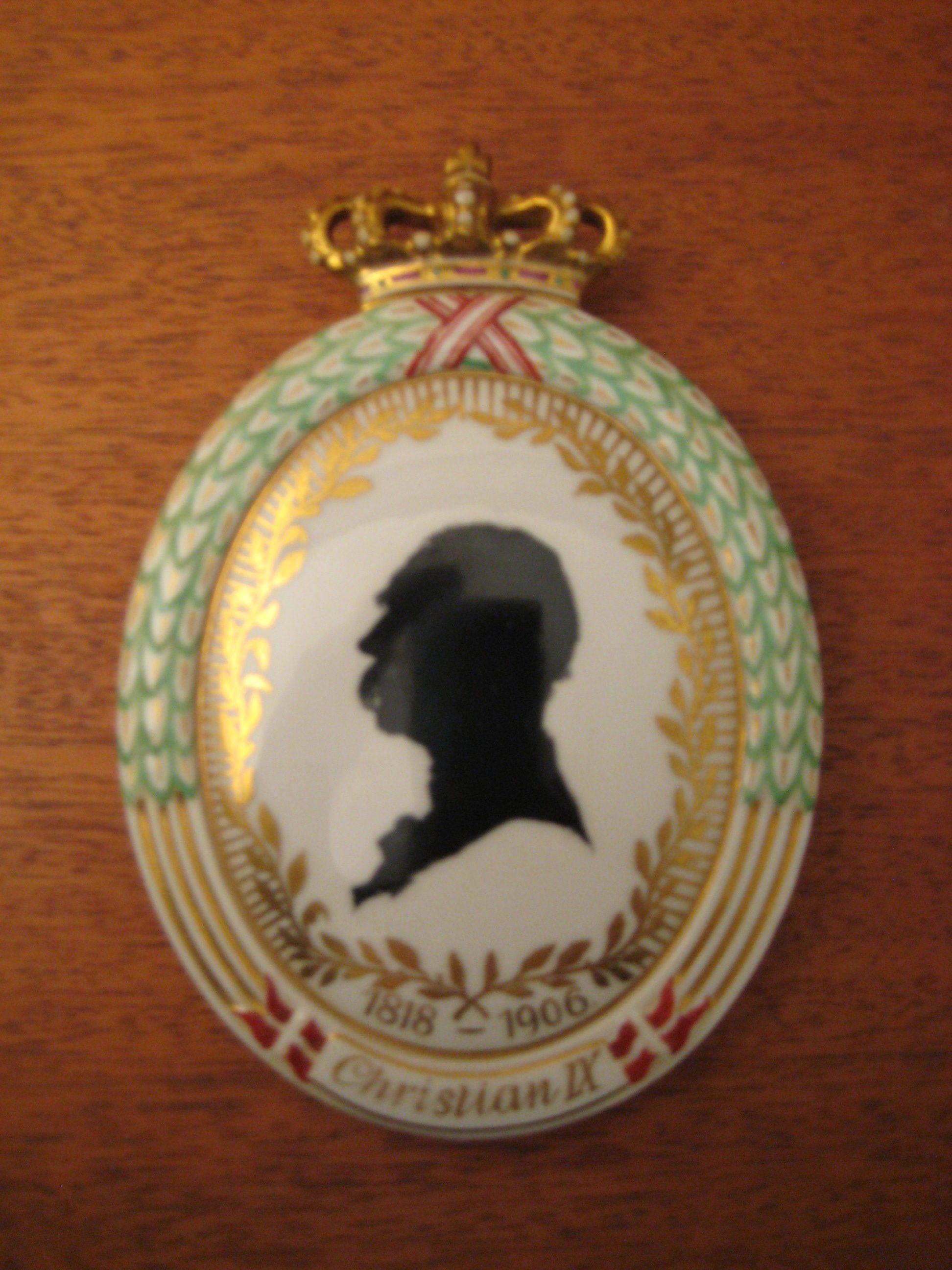 Chr IX plakette Royal Cph