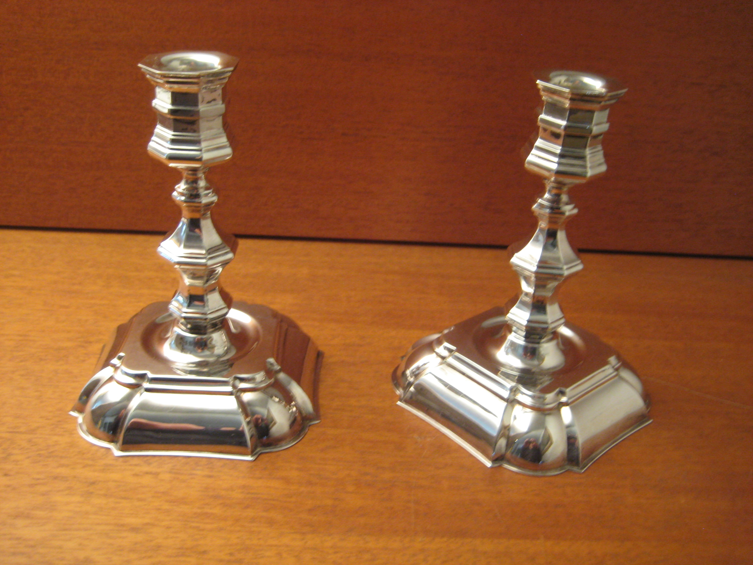 Lysestager i sølvplet