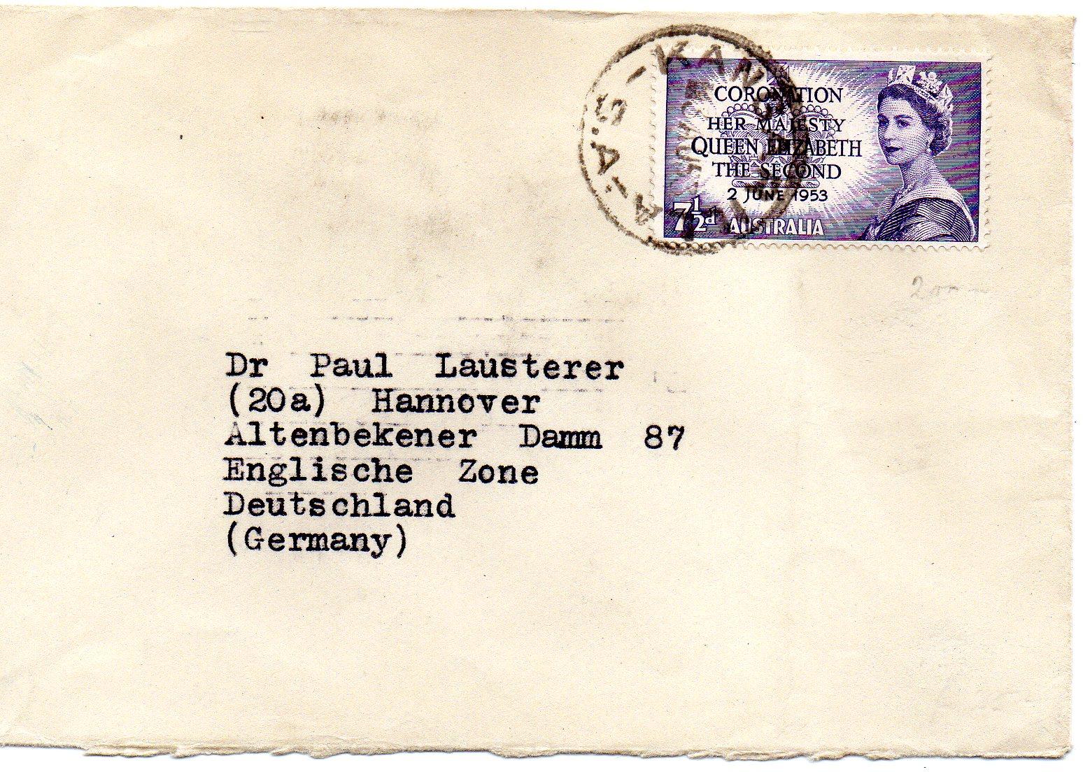 Australien til Tyskland 1953