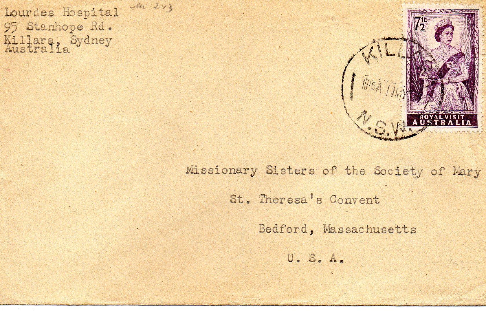 Killara Australien til USA 1954