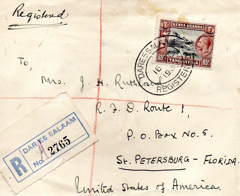 Tanganyika til USA 1937