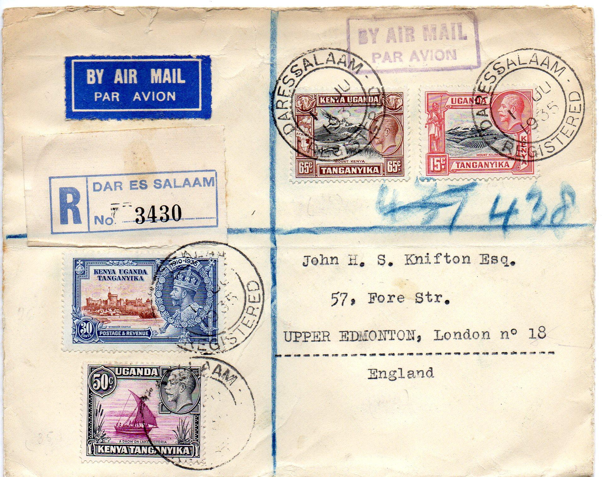 Tanganyika til England 1935