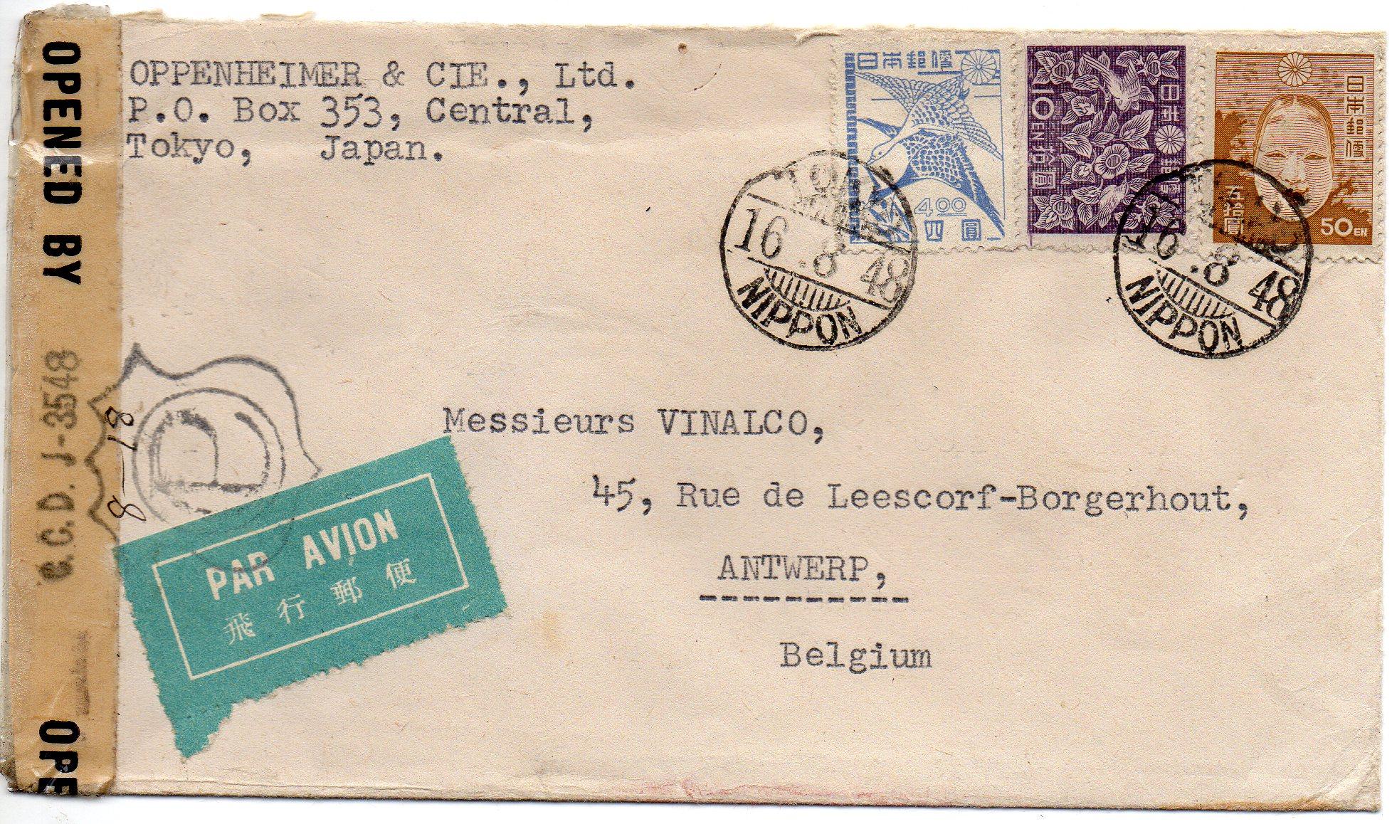 Japan til Belgien 1948