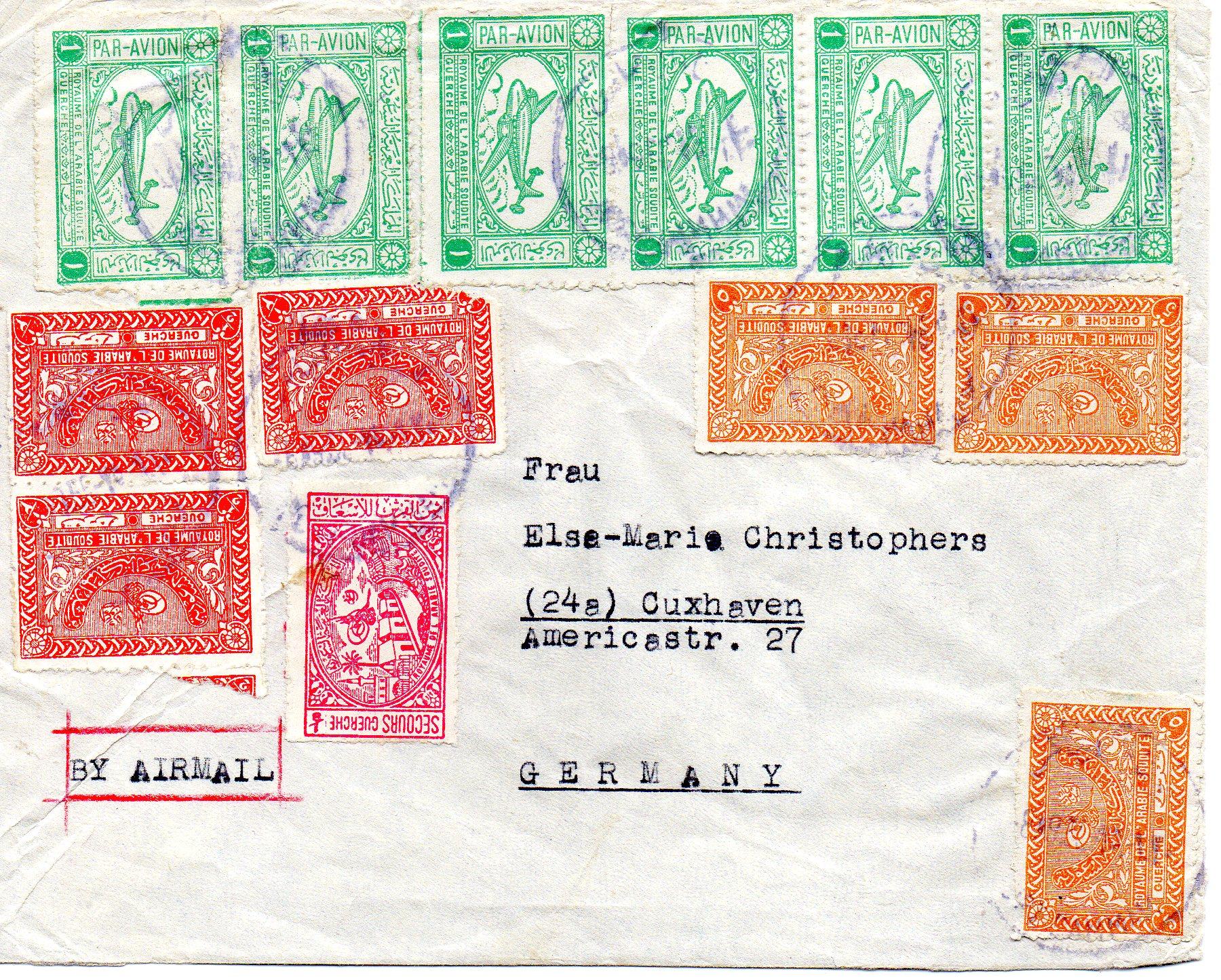 Saudi Arabien til Tyskland 1955