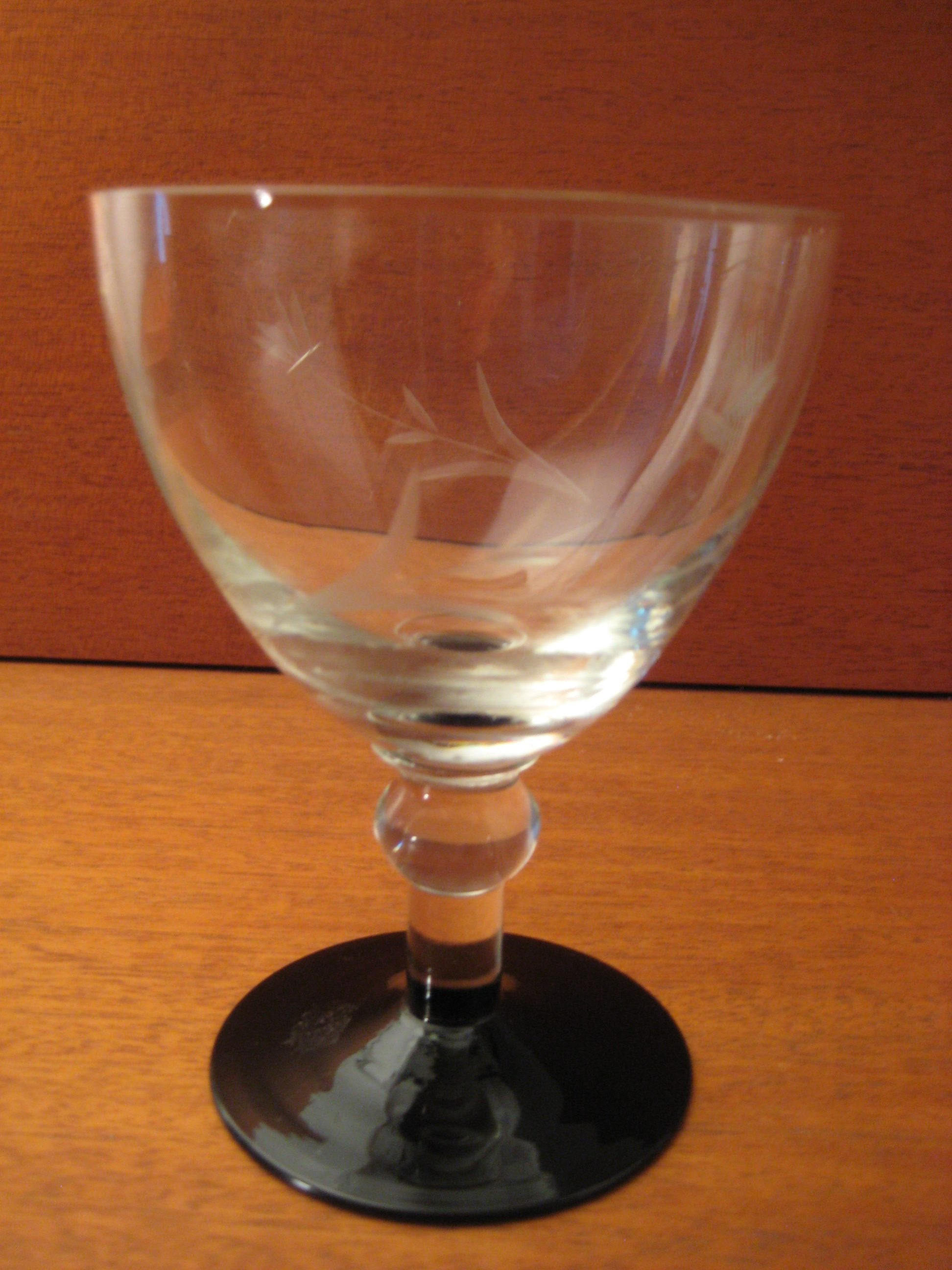 Holmegaard med sort fod h 12,5cm