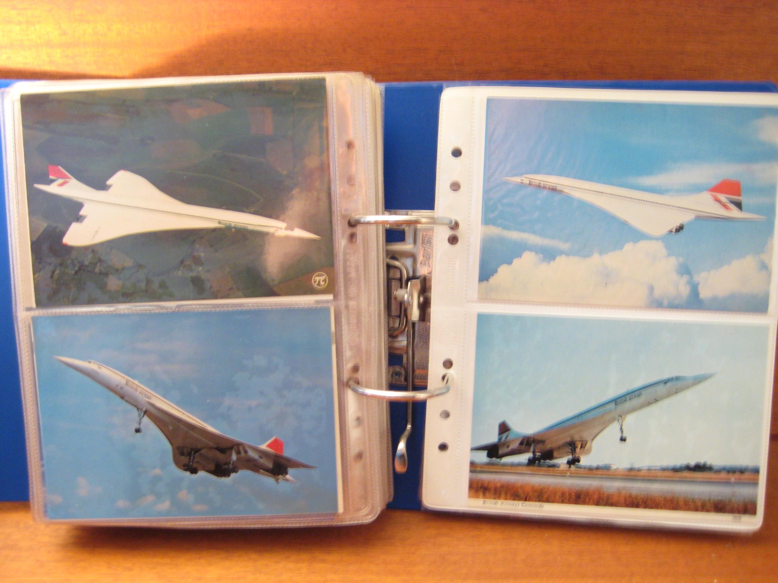 Postkort Fly Concorde- Convair