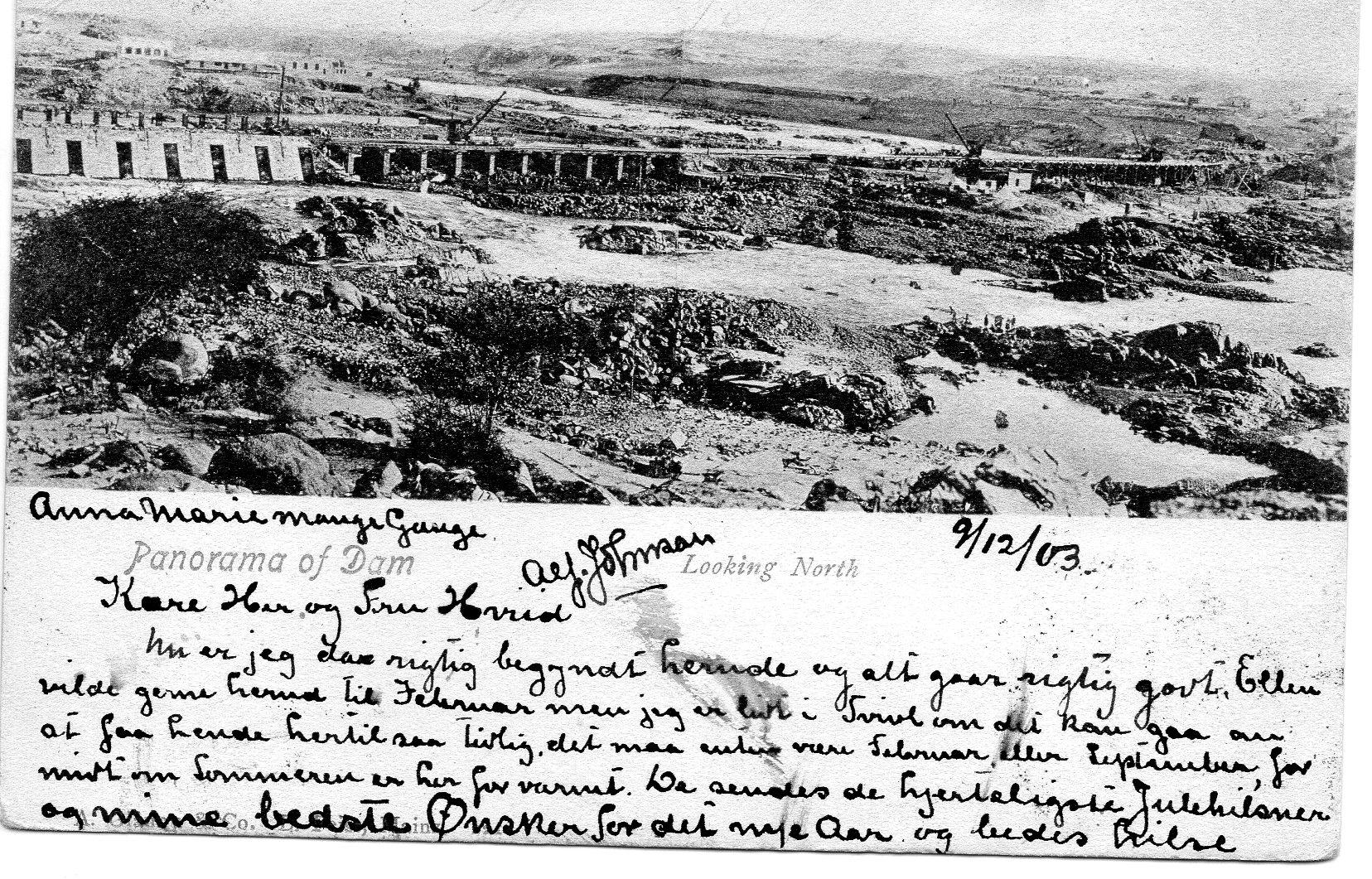Sudan Dæmningen 1903