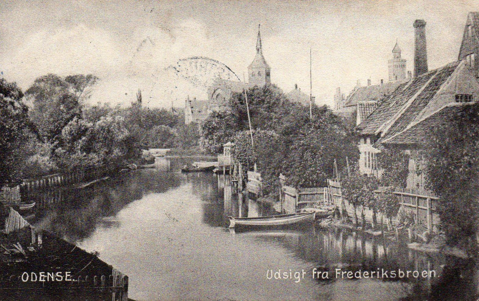 Odense Udsigt fra Frederiksbroen