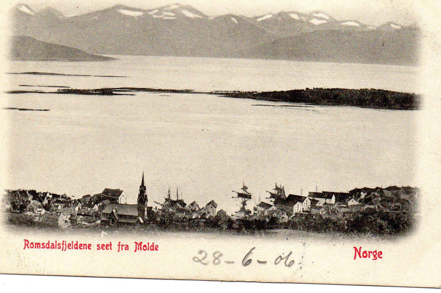 Romsdalsfjeldene set fra Molde