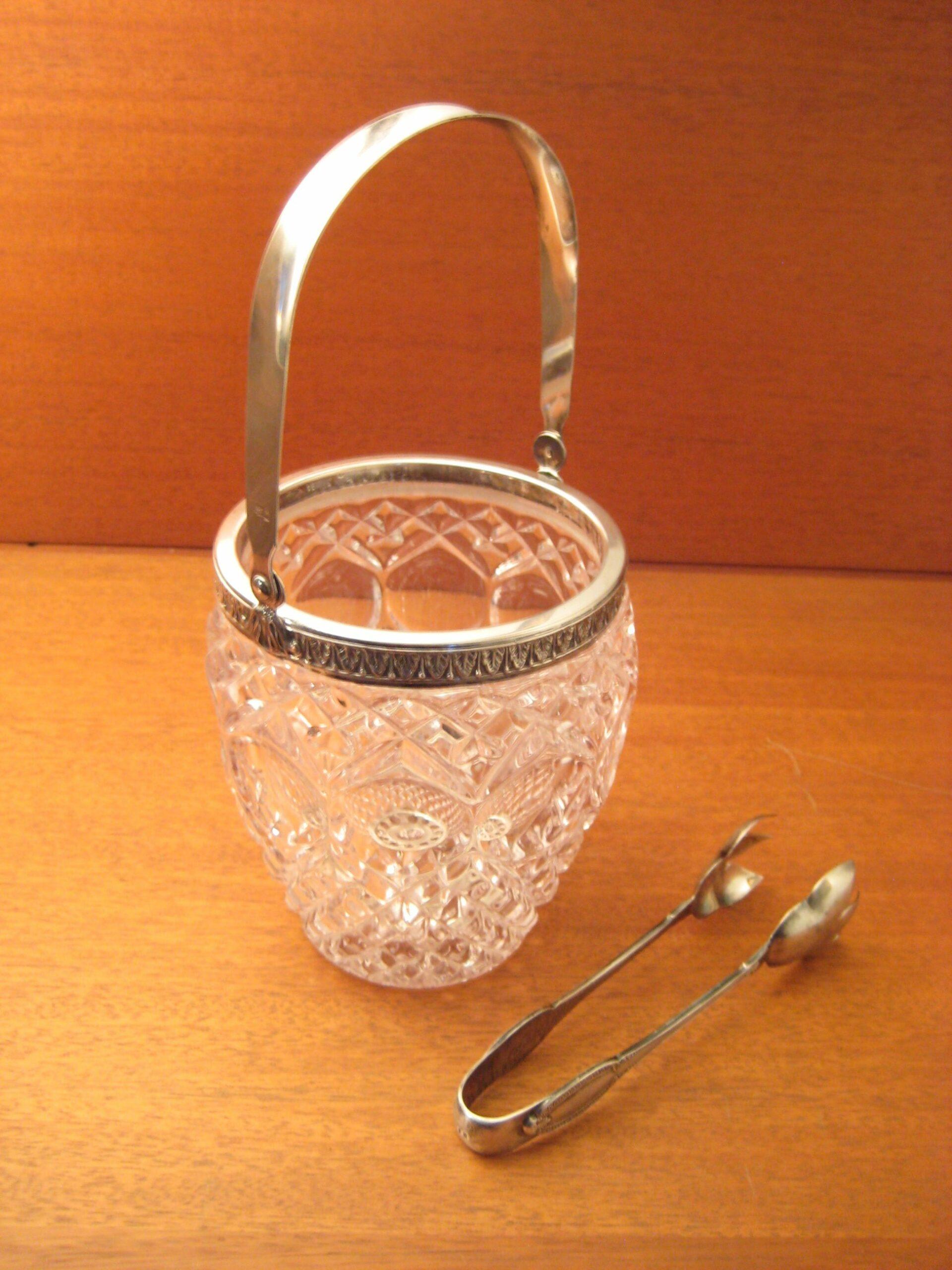 Isspand krystal med sølv