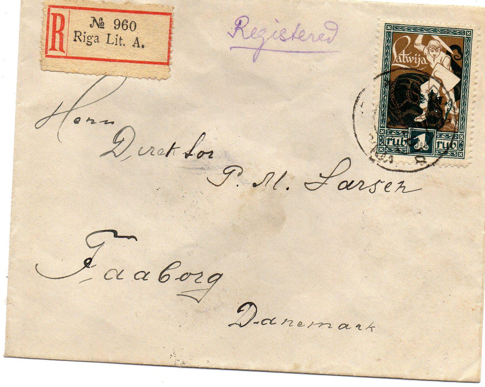 Riga til Danmark 1921