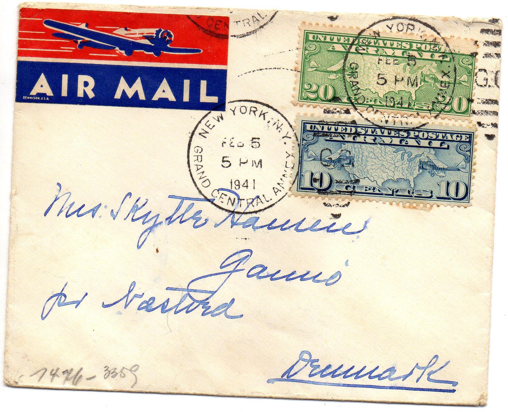 New York til Danmark 1941