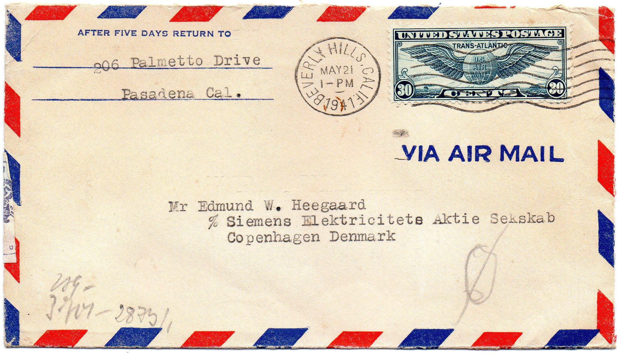 Beverly Hills til Danmark 1941