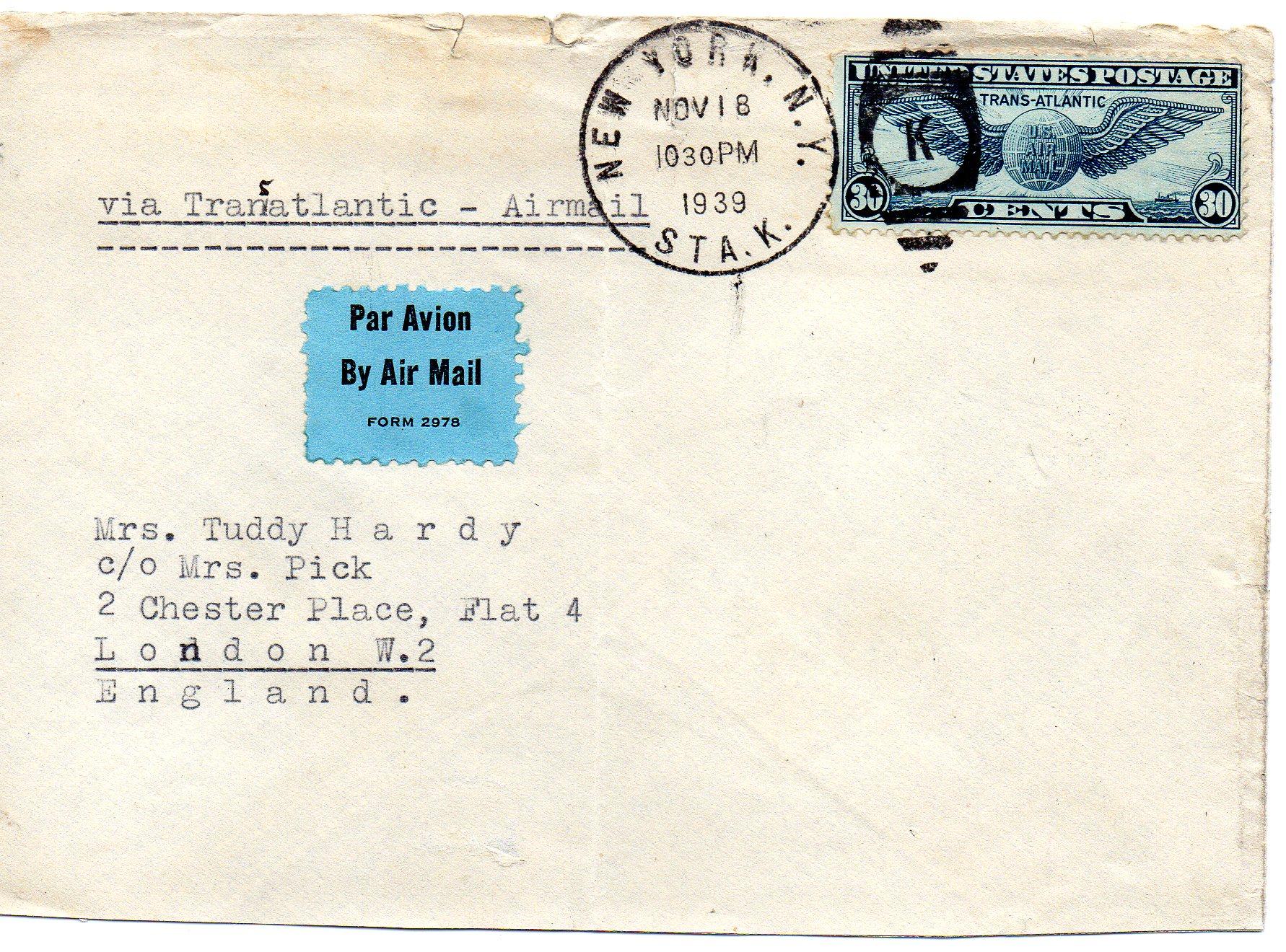 New York til England 1939