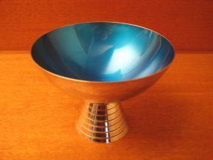 Sølvplet blå emallie