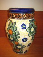 Aluminia stor vase m/ blomstermotiv