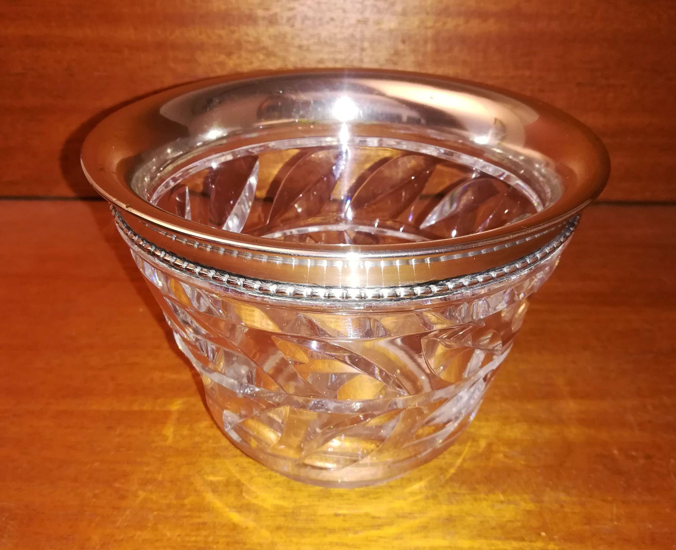 Krystalkrukke med sølv